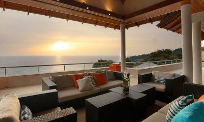 Baan Paa Talee Open Plan Lounge Area with Sea View | Kamala, Phuket