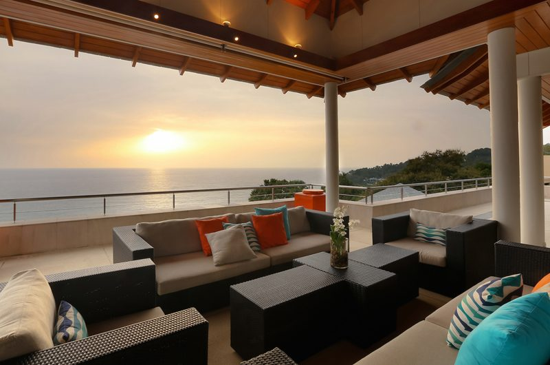 Baan Paa Talee Open Plan Lounge Area with Sea View | Kamala, Phuket