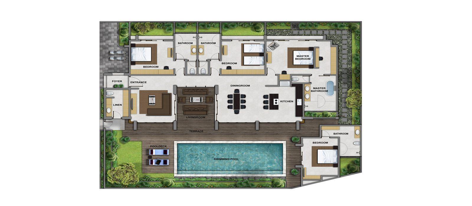 Villa Bamboo Aramanis Floorplan   Seminyak, Bali