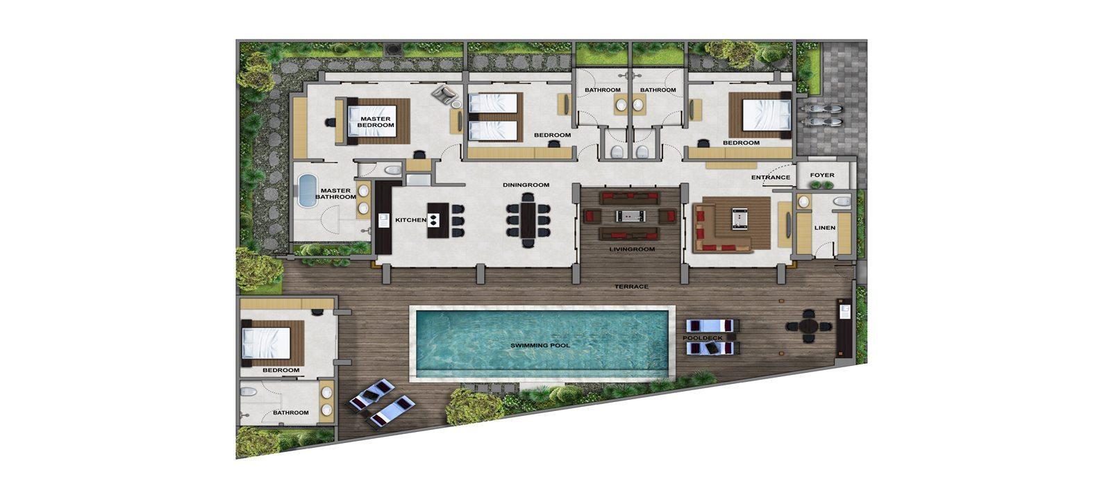 Villa Manis Aramanis Floorplan | Seminyak, Bali