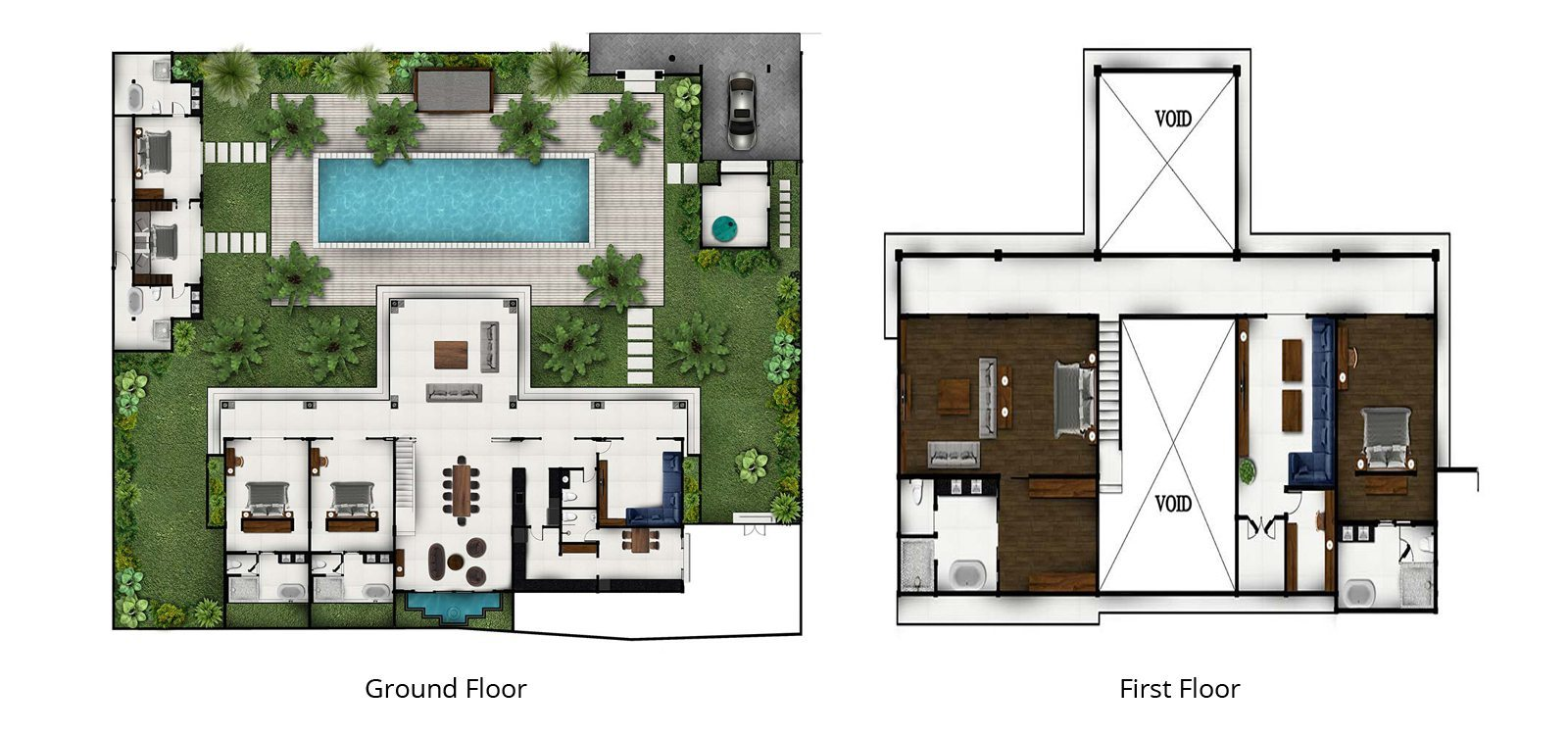 Villa Tjitrap Floorplan | Seminyak, Bali