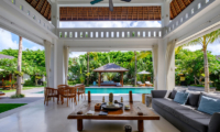 Villa Tjitrap Living Area with Pool View | Seminyak, Bali