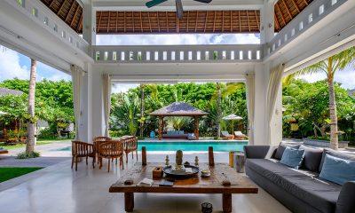 Villa Tjitrap Living Area with Pool View | Seminyak, Bali