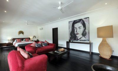 Villa Tjitrap Bedroom with Living Area | Seminyak, Bali