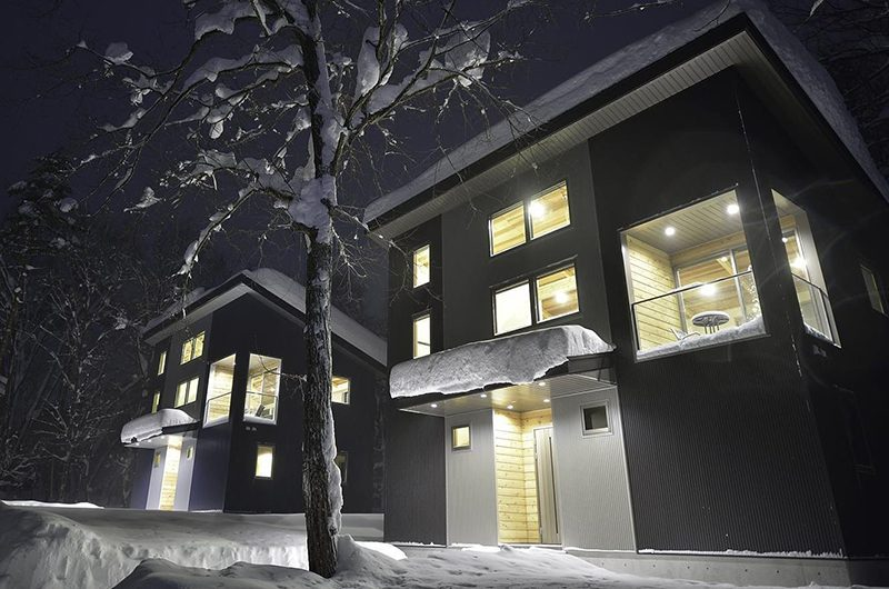 Bluebird Chalets Night View Building | Hakuba, Nagano