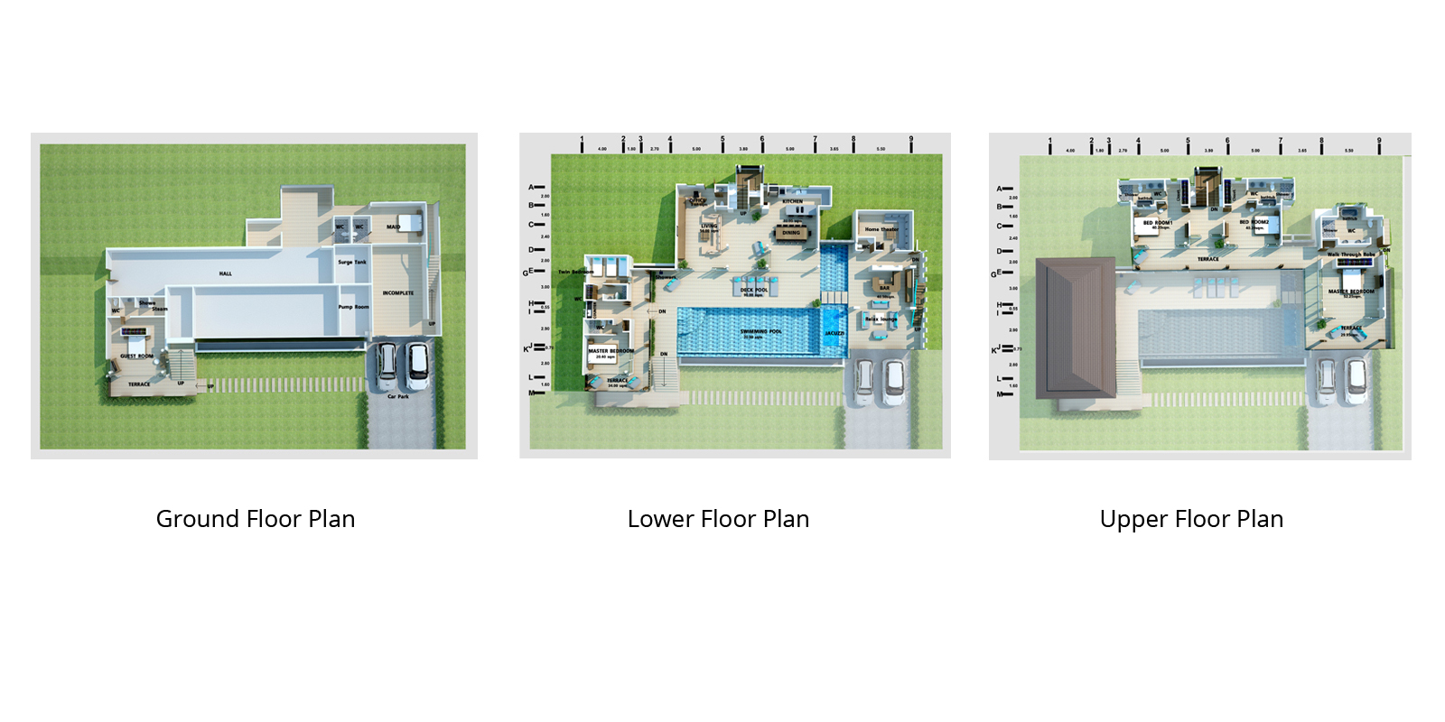 Monsoon Villa Floorplan | Maenam, Koh Samui