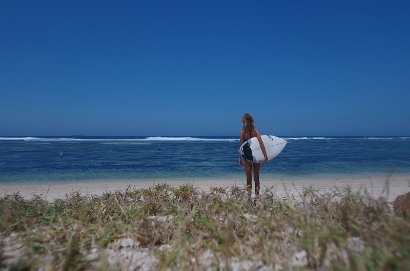 Serangan Island Beach Surfing Bali