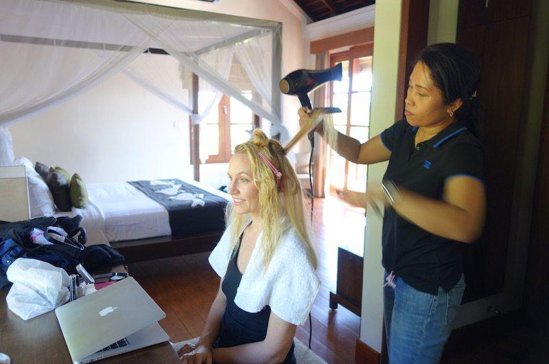 In-villa hair services
