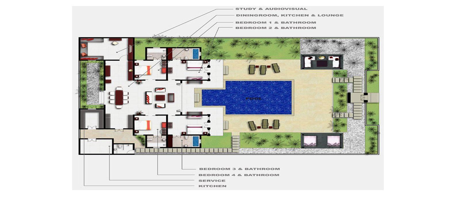 Villa Dewata One Floorplan | Seminyak, Bali