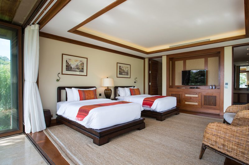 Praana Residence Twin Bedroom with TV | Bophut, Koh Samui