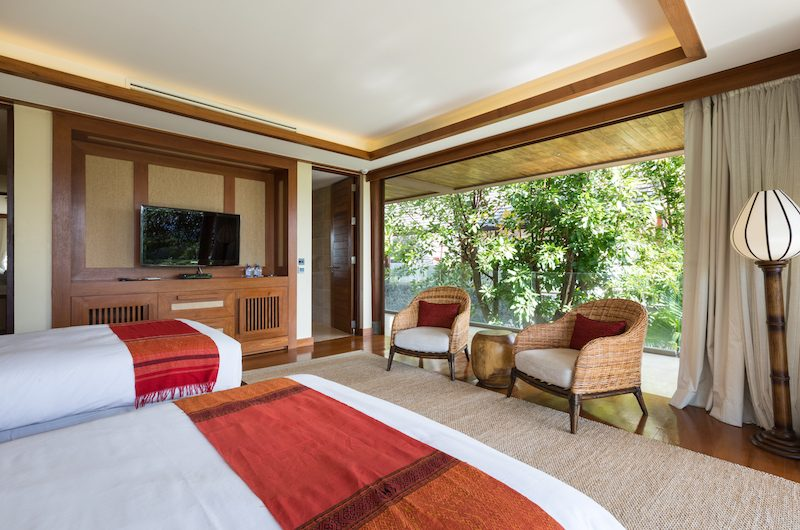 Praana Residence Twin Bedroom with Seating | Bophut, Koh Samui