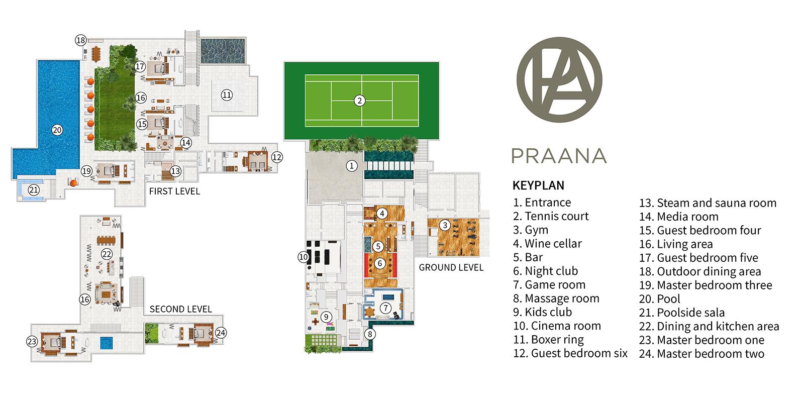 Praana Residence Floor Plan | Bophut, Koh Samui