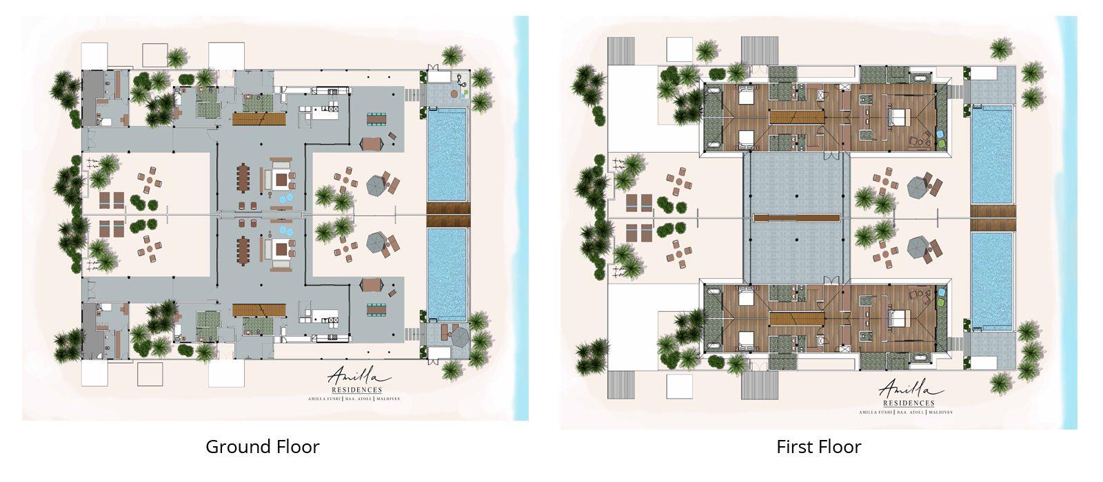 Amilla Villa Residences Floorplan | Baa Atoll, Maldives