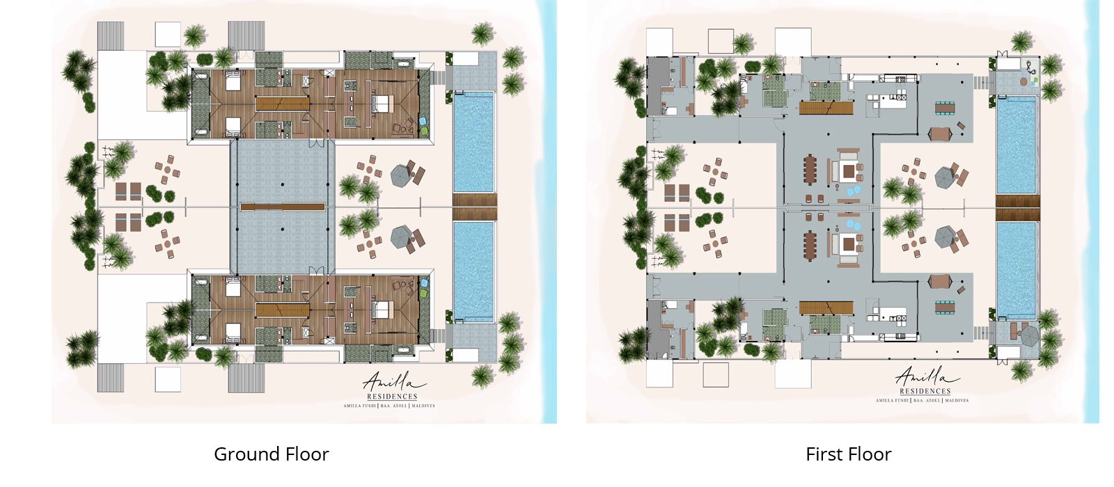 Amilla Great Beach Villa Residence Floorplan | Baa Atoll, Maldives