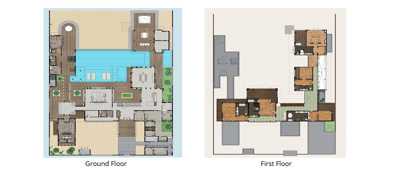 The Amilla Villa Estate Floorplan | Baa Atoll, Maldives