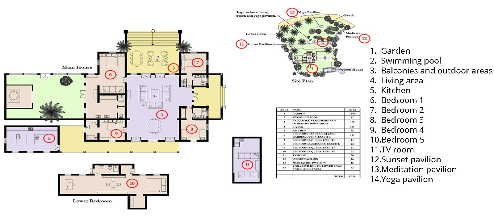 Pointe Sud Floorplan | Mirissa, Sri Lanka