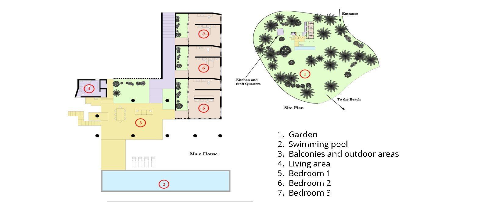 Walatta House Floorplan | Tangalle, Sri Lanka