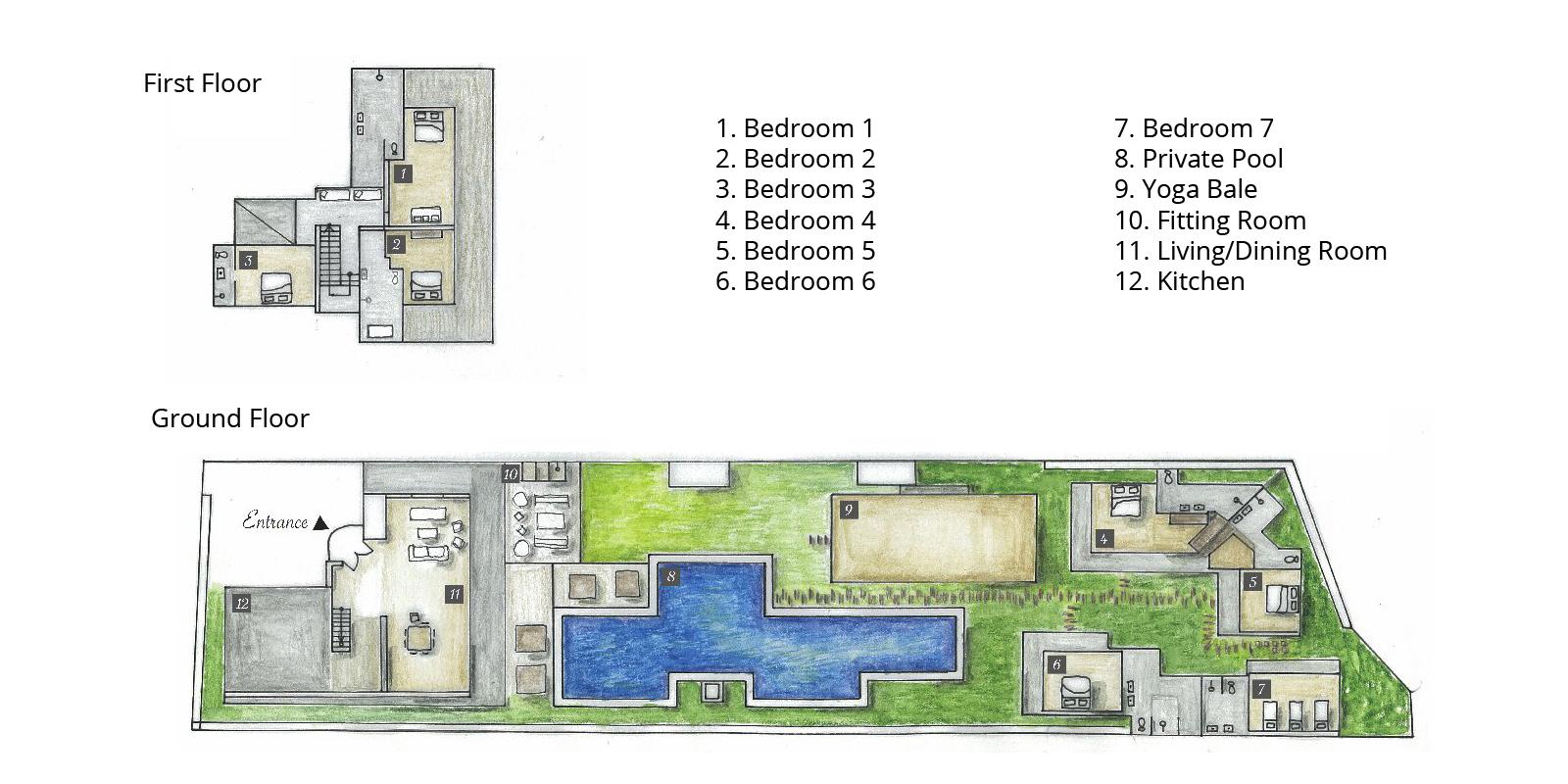 Villa Yoga Floorplan | Seminyak, Bali