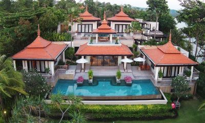 4 Bedroom Ocean Front Residence Bird's Eye View | Layan, Phuket | Thailand