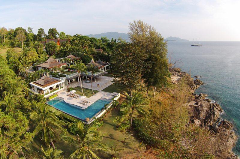 5 Bedroom Ocean Front Residence Bird's Eye View | Layan, Phuket | Thailand