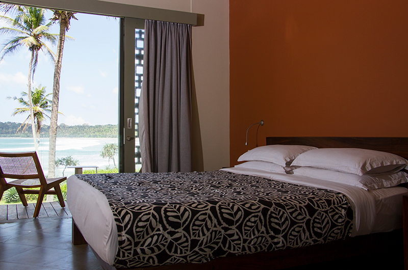 Talalla House Bedroom with Wooden Deck | Talalla, Sri Lanka