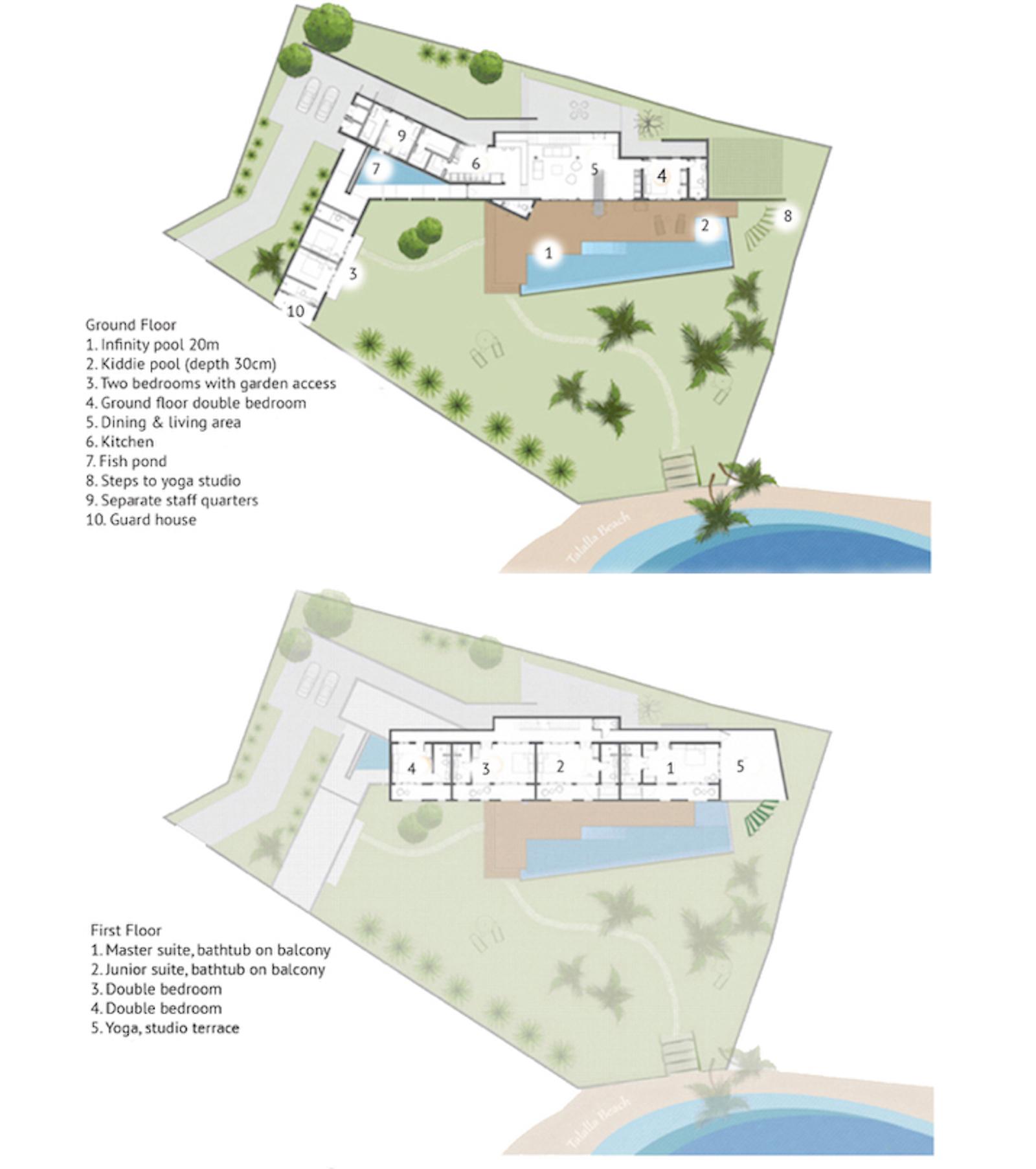 Talalla House Floor Plan | Talalla, Sri Lanka