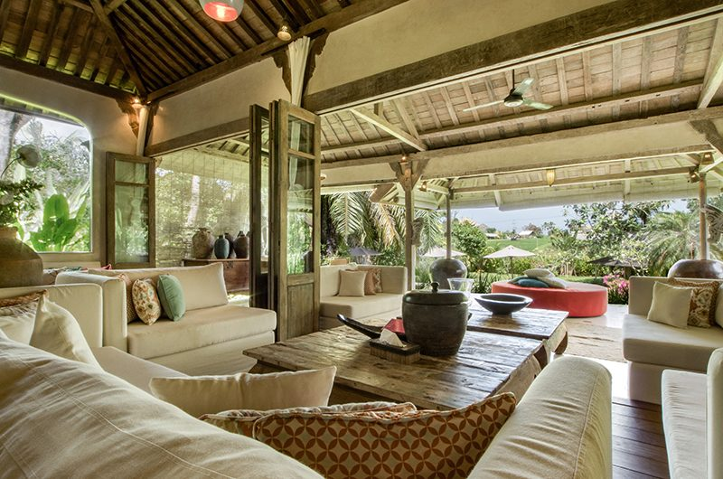 Villa Galante Living Area with Garden View | Umalas, Bali