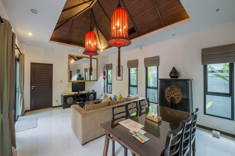 The Bell Pool Villa Resort Living and Dining Area | Kamala, Phuket