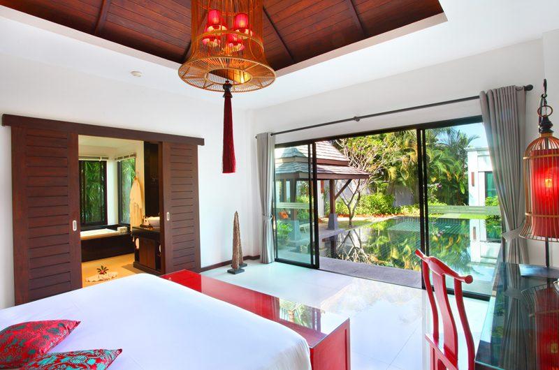 The Bell Pool Villa Resort Bedroom with Pool View | Kamala, Phuket