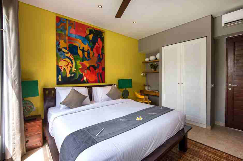 Villa Anam Bedroom with Table Lamps   Seminyak, Bali