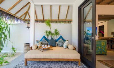Finolhu Beach Villa Living Area | Baa Atoll, Maldives