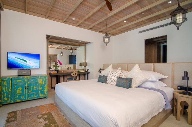 Finolhu Beach Villa Bedroom | Baa Atoll, Maldives