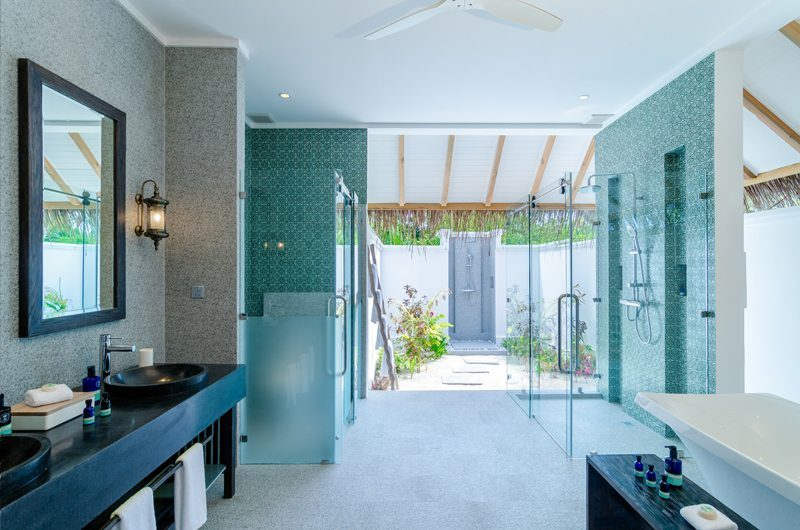 Finolhu Beach Villa Bathroom | Baa Atoll, Maldives