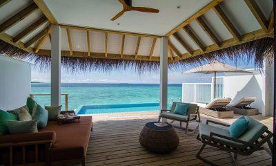 Finolhu Ocean Pool Villa Living Area | Baa Atoll, Maldives