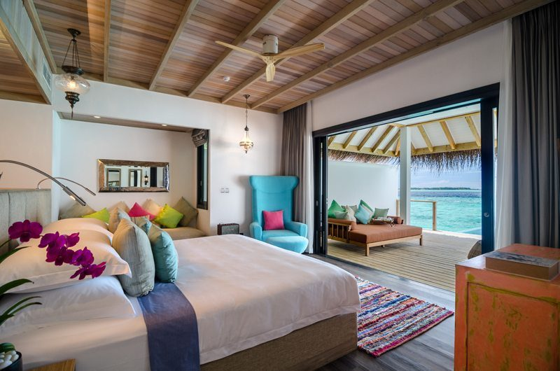 Finolhu Ocean Pool Villa Bedroom | Baa Atoll, Maldives