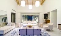 Finolhu Two Bedroom Beach Pool Villa Living Area | Baa Atoll, Maldives