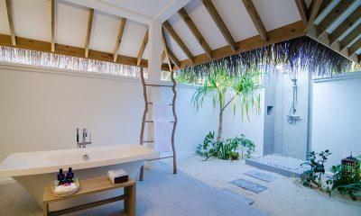 Finolhu Two Bedroom Beach Pool Villa Bathroom | Baa Atoll, Maldives