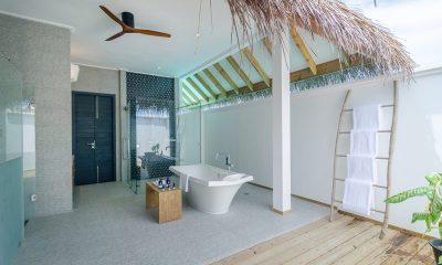 Finolhu Two Bedroom Ocean Pool Villa Bathroom | Baa Atoll, Maldives