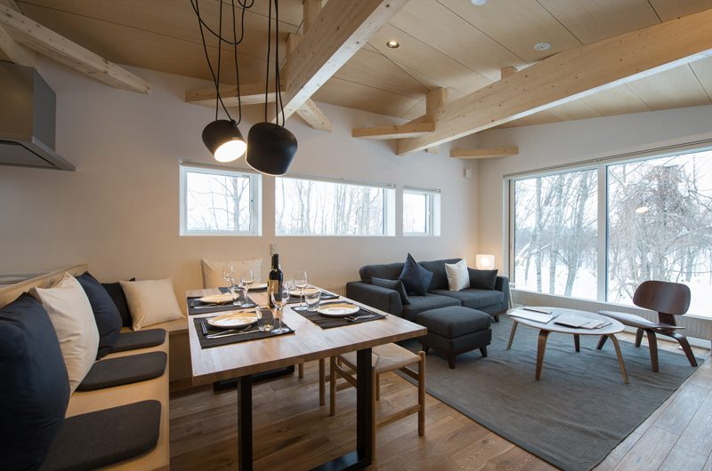 Yorokobi Lodge Living And Dining Area | Hirafu, Niseko