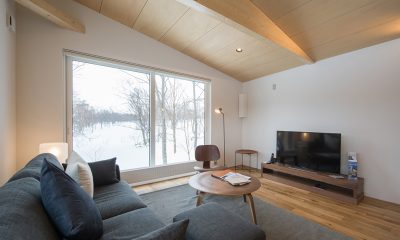 Yorokobi Lodge Living Area | Hirafu, Niseko