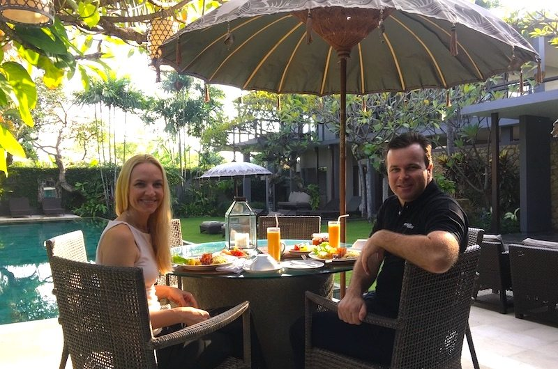Breakfast at Chimera Villas in Seminyak, Bali