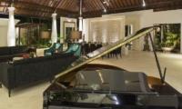 Uma Wana Prasta Living Room with a Piano   Canggu, Bali