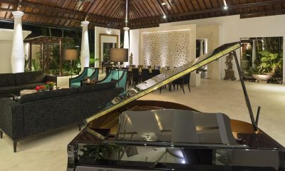 Uma Wana Prasta Living Room with a Piano | Canggu, Bali