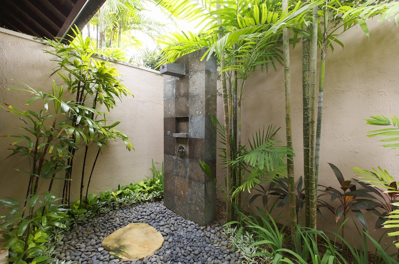 Villa Santai Sorga Outdoor Shower | Ungasan, Bali