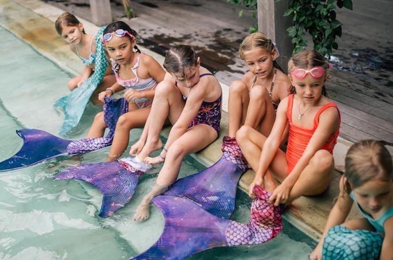 putri siren mermaid party in bali with kids