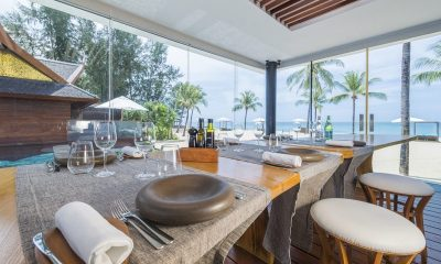 Iniala Beach House Collector's Villa Pool Side Dining Area   Natai, Phang Nga