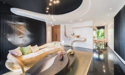 Iniala Beach House Collector's Villa Indoor Living Area   Natai, Phang Nga