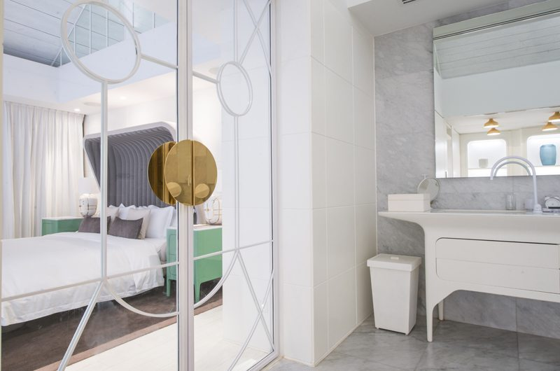 Iniala Beach House Collector's Villa Bedroom and En-suite Bathroom   Natai, Phang Nga
