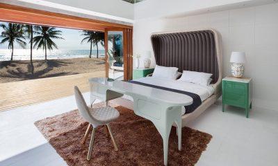 Iniala Beach House Collector's Villa Bedroom with Sea View   Natai, Phang Nga