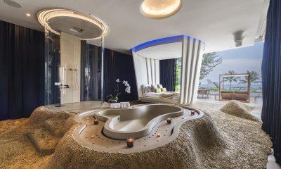 Iniala Beach House Iniala Penthouse Bedroom with Pool View | Natai, Phang Nga